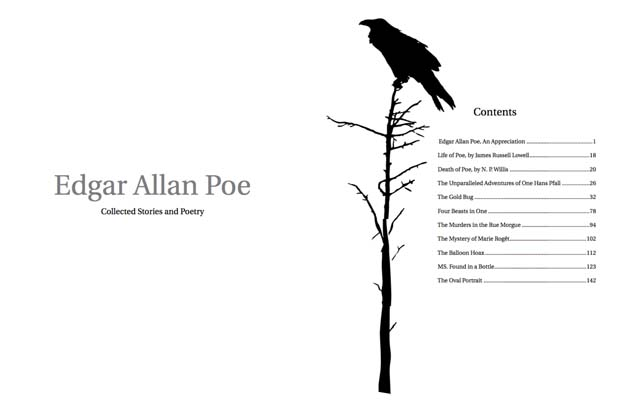 Edgar Allan Poe Book Pages